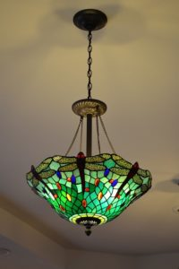 sea glass light fixture